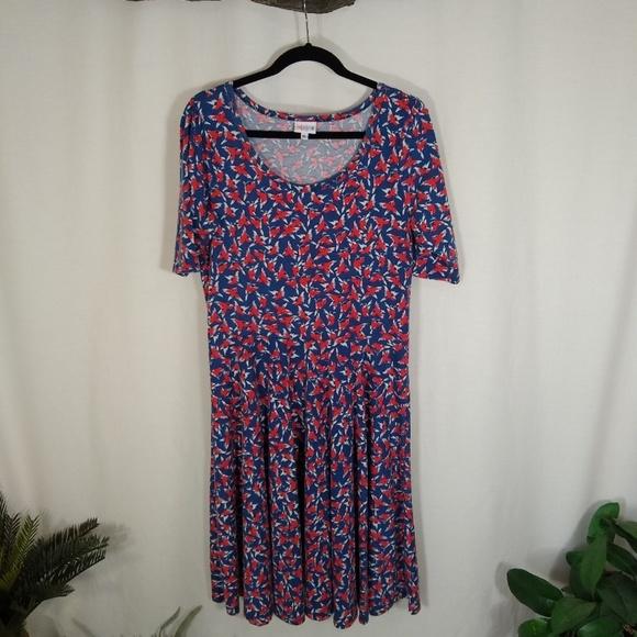 LuLaRoe Dresses & Skirts - LULAROE Nicole bird print dress